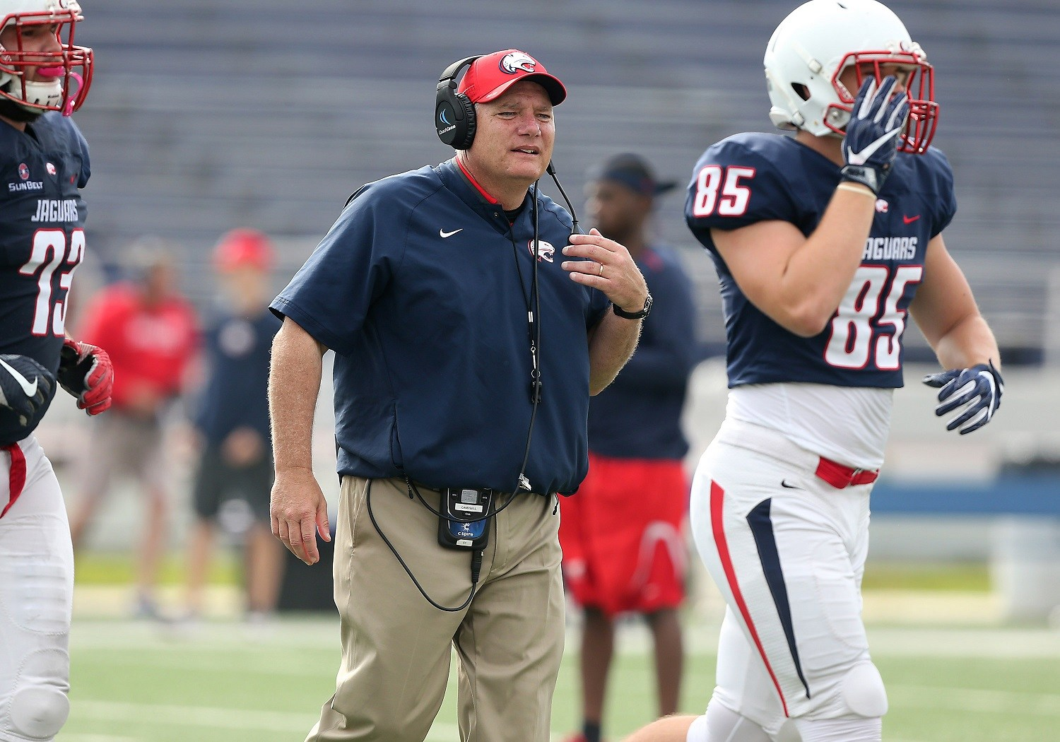 WNSP interview with South Alabama head coach, Steve Campbell!