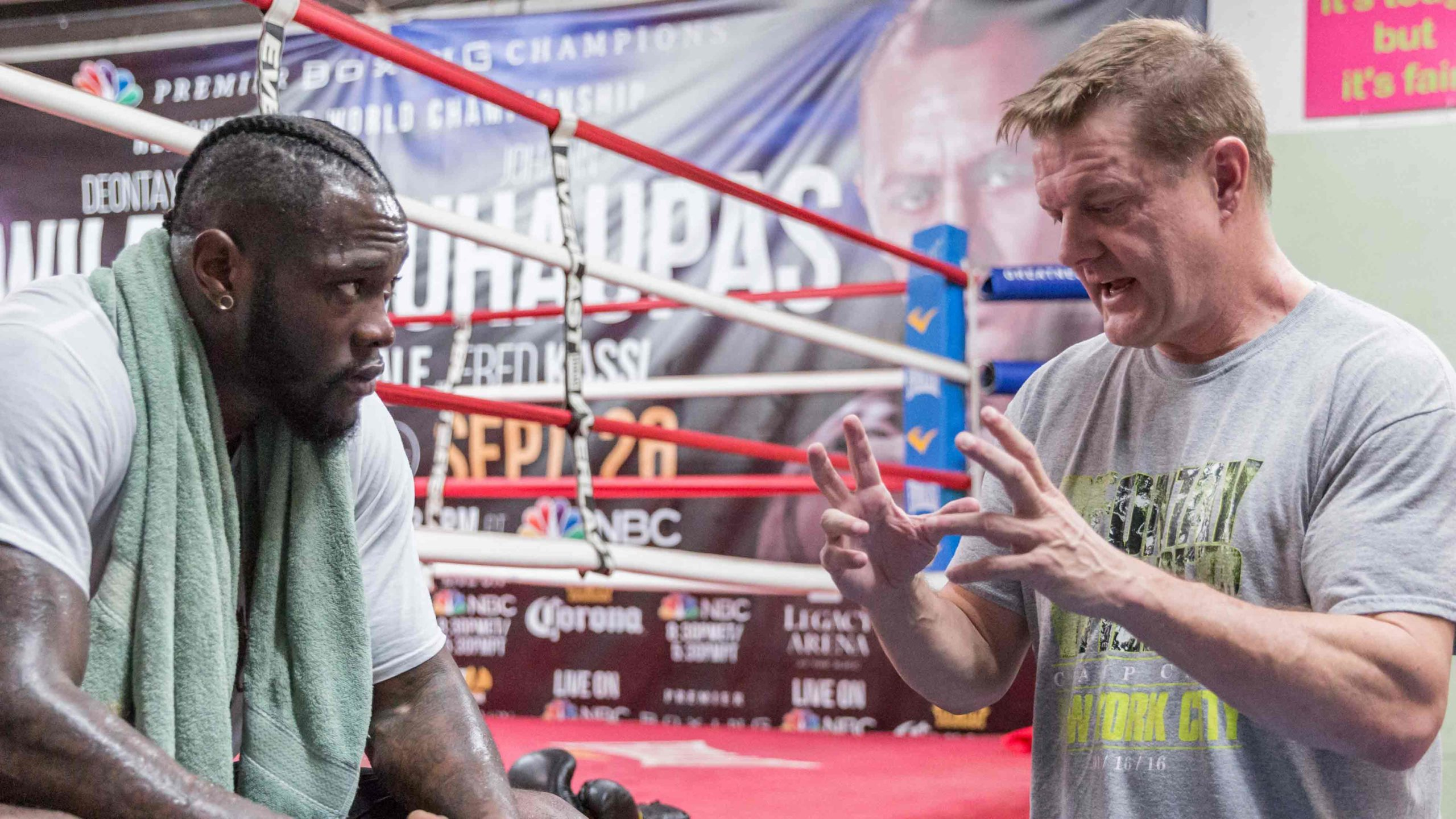 WNSP interview with Jay Deas, trainer for Deontay Wilder!