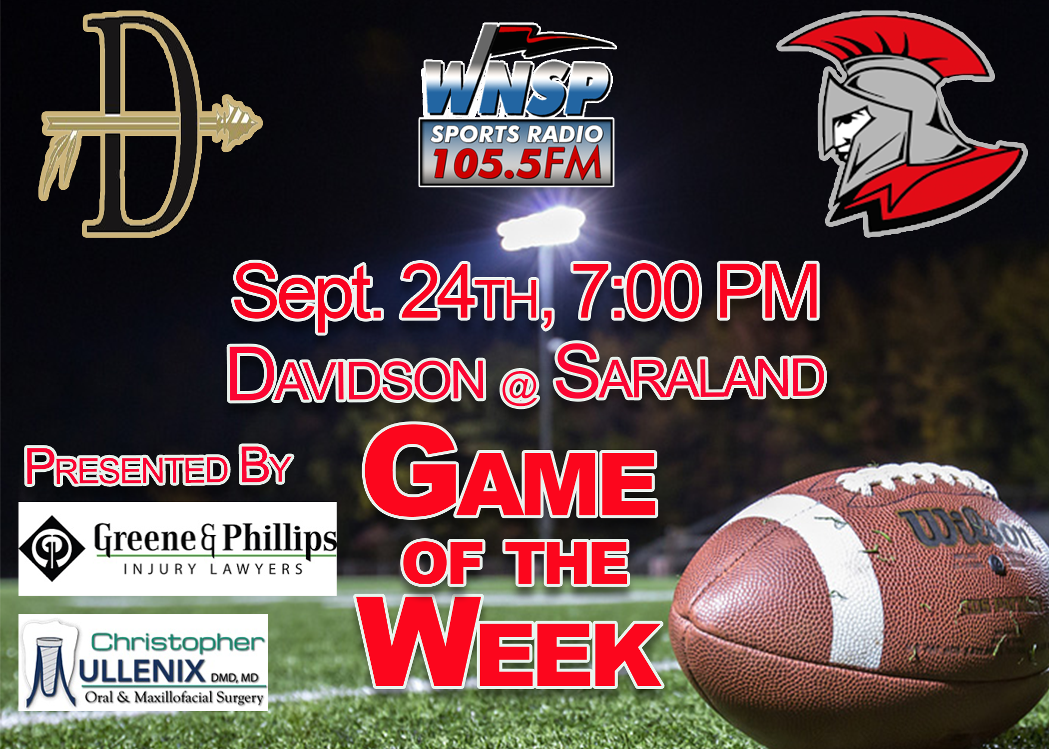 Davidson @ Saraland for WNSP's Game of the Week