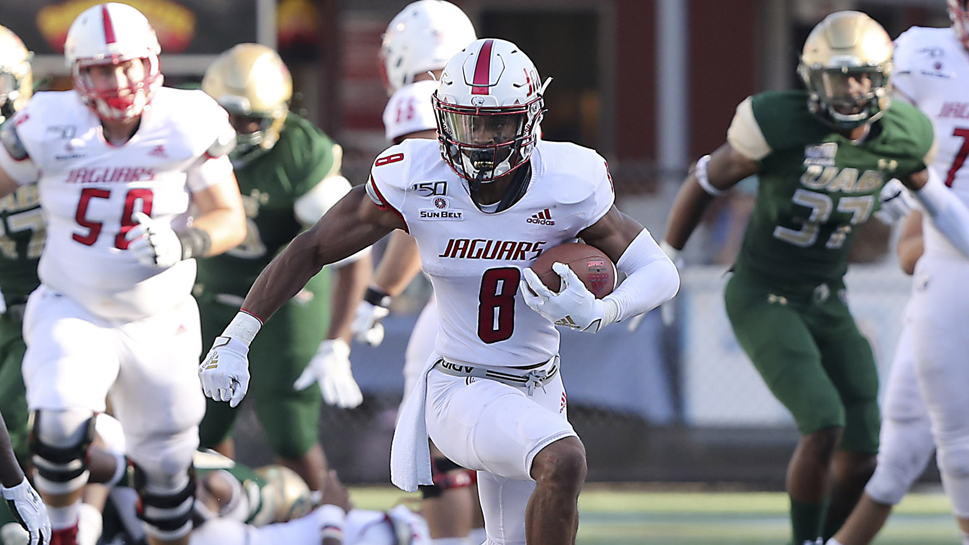 LISTEN: Jalen Tolbert, South Alabama star wide receiver, tells you what to expect from the Jags and their new coaching staff
