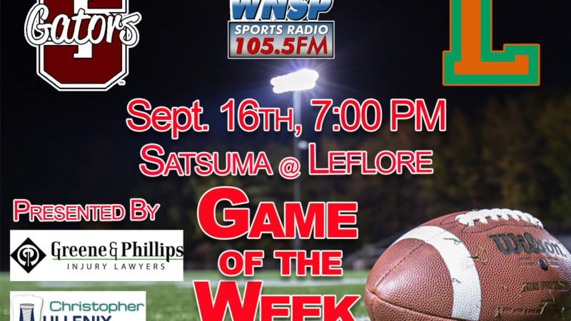 WNSP's HS Football Game Day is Headed to LeFlore HS